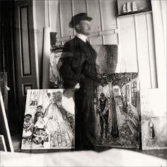 Edvard Munch · Autoritratto con cappello · 1907