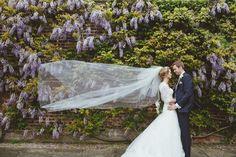 Wedding photography, wedding dress, veil shot, pretty couple  www.lemonadepictures.co.uk