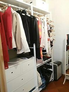 The lovely ikea elvarli open wardrobe all of my clothing for Ikea creation dressing