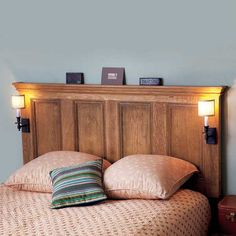 bedroom furniture step by step projects Interior-Door Headboard
