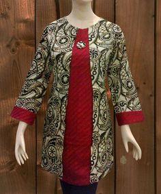 Blouse Batik, Batik Dress, Fashion Pants, Fashion Outfits, Women's Fashion, Red Kurti, Big Size Fashion, New Designer Dresses, Batik Fashion