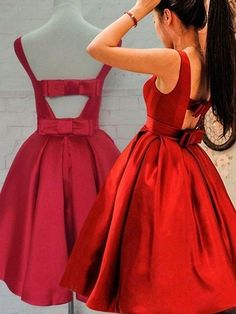 Back Red Homecoming Dresses Bowknot Prom Dresses Short Prom Dress Backless Prom Dresses Cheap Homecoming Dresses, Backless Prom Dresses, Prom Party Dresses, Prom Gowns, Wedding Dresses, Gowns 2017, Dress Party, Occasion Dresses, Backless Wedding