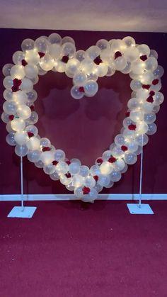 Birthday Decorations At Home, Birthday Balloon Decorations, Engagement Party Decorations, Valentine Decorations, Surprise Party Decorations, Balloon Backdrop, Balloon Garland, Deco Ballon, Balloons Galore
