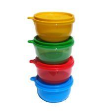 Tupperware Ideal Little Bowl Set of 4 in Green Red Blue and Yellow -- To view further for this item, visit the image link.