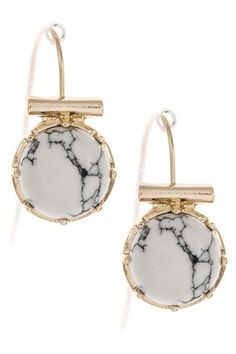 marble and gold earrings