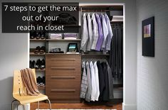 Is your reach in closet maxed out? Click through this article learn how to triple your useable space.
