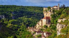 Gazing down the lush Alzou river valley at the vertically-oriented village of Rocamadour, you won't be surprised some regard the mediev...