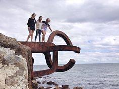 Turistas en Donosti city