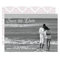 Rose Filigree Save the Date Card - invitations custom unique diy personalize occasions