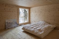 '5.5m x 5.5m', Fribourg, Switserland, wooden walls/ceiling, detail (by LVPH)