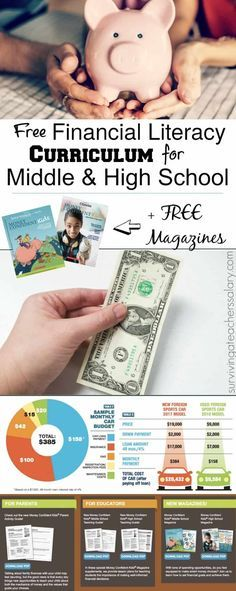 This free financial literacy curriculum for middle school and high school students also comes with money games, teaching guides, parent guides and more! Literacy Worksheets, Literacy Activities, Math Games, Teaching Money, Teaching Kids, Team Building, Math College, Consumer Math, Leadership