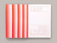 LEAP Dialogues: Career Pathways for Designers in Social Innovation - Fonts In Use