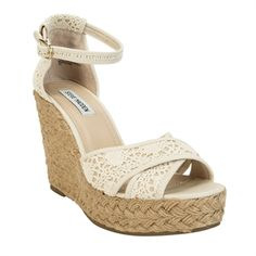 Steve Madden Marrvil Espadrille Crocheted Wedge Sandal #VonMaur #SteveMadden #Natural