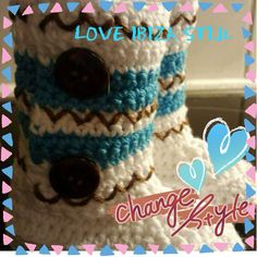 Baby crochet boots
