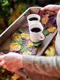 Coffee in autumn
