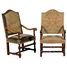 Franya Waide @ 1stDibs.com - Pair of Barley Twist Walnut Armchairs $7,800.00