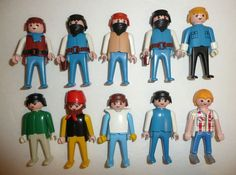 Playmobil Parts + Pieces Lot - 10 People Figures Bandits Masks Robbers Male  #PLAYMOBIL