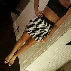 Striped skirt Super cute and fun mini skirt.  Worn once.  Elastic waist band Monteau Skirts Mini