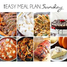 Our Easy Meal Plan helps families plan their dinner and enjoy meals together. Use it to plan your dinner menu this week and find easy and delicious recipes.