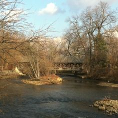 Another spot on the Naperville Riverwalk - more beautiful when the trees have leaves