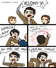 Cas goes completely overboard on the references. Sam and Dean hold an intervention.