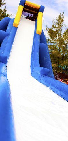 Slip-sliding into fun at the Aqua Park.