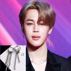 BTS Jimin Chain Hoops Earring - Gotamochi is the BTS Kpop Merch and Kawaii Clothes Aesthetics Store - Shop our largest selection of Kpop and Kawaii Apparel Material: Alloy Jimin Earrings, Women's Earrings, Chocker Necklace, Wedding Gifts For Bride, Bride Gifts, Faux Gauges, Bts Merch, Birthday Gifts For Her, Bts Jimin