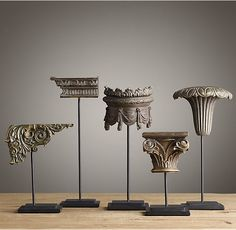 Neoclassical Architectural Ornaments (Set of 5)