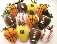 dipped strawberries... perfect for the team party