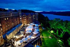 The  Thayer Hotel at West Point.  The outdoor ceremony location is perched high above the Hudson River, with expansive views in all directions.