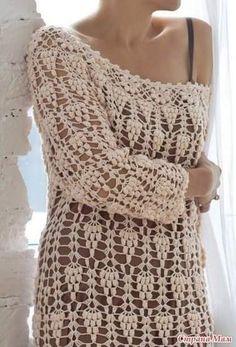 Patrón #1399: Vestido a crochet | CTejidas [Crochet y Dos Agujas]