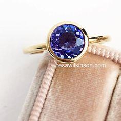 Three Stone Diamond Ring, Gold Diamond Rings, White Gold Rings, Gemstone Rings, Tanzanite Rings, Handmade Engagement Rings, Unique Diamond Engagement Rings, Unique Rings, Bezel Set Ring