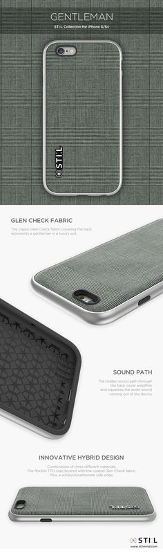 GENTLEMAN - A gentleman in classic luxury suit. Available in Color : Grey  #glencheck #stil #stilcase #mobile #fashion #design #case #iphone6 #iphone6s #2015fw: