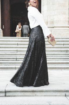 Loreto Gordo -  Paillettes - falda de lentejuelas - wedding look - guest - look de invitada - 24FAB