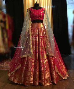Indian Gowns Dresses, Indian Fashion Dresses, Dress Indian Style, Indian Designer Outfits, Indian Wear, Designer Dresses, Lehenga Choli Designs, Best Lehenga Designs, Designer Bridal Lehenga