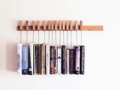 Libreria a parete in legno massello BOOK RACK | Libreria in rovere by AGUSTAV