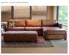 Artistic Leather-Amaretto Sofa & Ottoman, Town & Country Leather... Love it!