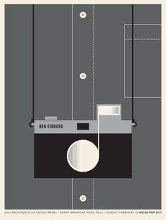 """Ben Gibbard """"camera"""" poster - jason munn is my favorite."""