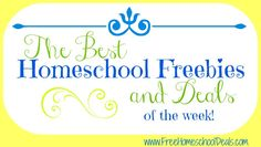 The Best Homeschool Freebies & Deals of the Week! Don't miss this LOADED list of free goodies for your homeschool!!