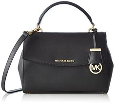 MICHAEL Michael Kors Women's Ava Small Satchel, Black, One Size