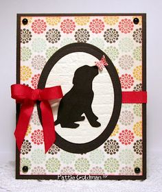 Make your own silhouettes with stamps!