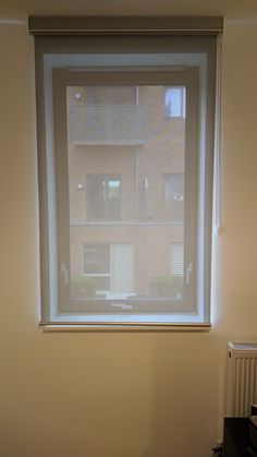 Sunscreen roller blind with matching pelmet made and fitted for home in Canning Town, London Wooden Window Blinds, Faux Wood Blinds, Blinds For Windows, Bali Blinds, Bamboo Blinds, Sheer Blinds, Diy Blinds, Living Room Blinds, House Blinds