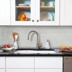 """BeausTile Decorative Adhesive Faux Tile Sheets, 12.2"""" x 12.2"""" 4-Pieces, Cairo"""