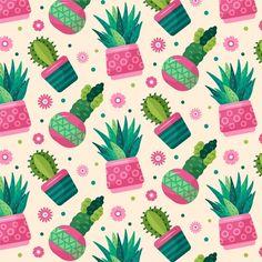Wallpaper Kawaii, Cactus Backgrounds, Cactus Planta, Minimalist Pattern, Scrapbooking, Botanical Art, Stickers, Cute Wallpapers, Cacti And Succulents