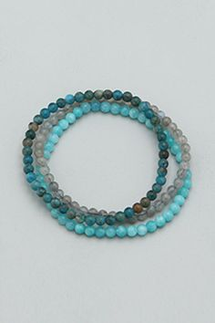 Explore the untapped parts of your soul and discover your gifts with this powerful trio of gemstone bracelets. Featuring three types of gemstones, each harmonizes with a different aspect of the self to take you on a journey of self-discovery and personal growth. Amazonite, Labradorite, and Apatite. Healing Gemstones, Types Of Gemstones, Gemstone Bracelets, Gemstone Beads, Internal Motivation, Labradorite, Discovery, Turquoise Bracelet, Journey