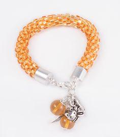 Hand made golden bead crochet bracelet; more on www.facebook.com/BizuteriaLowyt