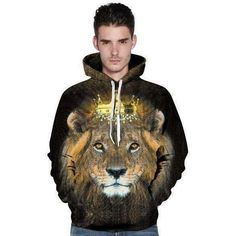 3D Printed Hoodie - Tiger and Big Cats Themes (6 designs)