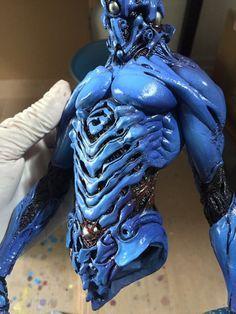 ArtStation - Guyver, smile _z Robot Concept Art, Armor Concept, Character Concept, Character Art, Character Design, Creature Feature, Creature Design, Biomechanical Tattoo, 3d Figures