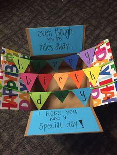 college birthday care package #girlfriendbirthdaygifts