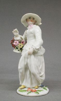 Four Seasons (Spring), British, Chelsea. The Metropolitan Museum of Art, New York. Gift of Irwin Untermyer, 1964 Violets May Day Beltane Flowers Bouquet Fine Porcelain, Porcelain Ceramics, New York Museums, Terracota, China Painting, Antique China, Collectible Figurines, Oeuvre D'art, Four Seasons